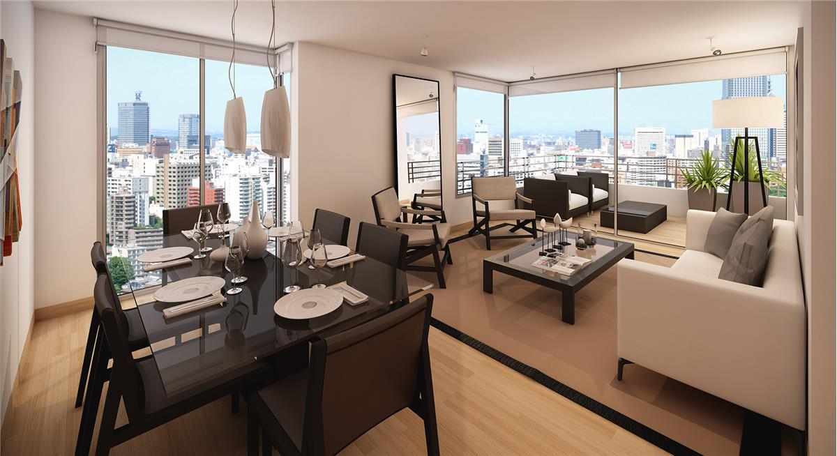 Proyecto edificio tempo departamento en venta 7 norte for Muebles de oficina vina del mar