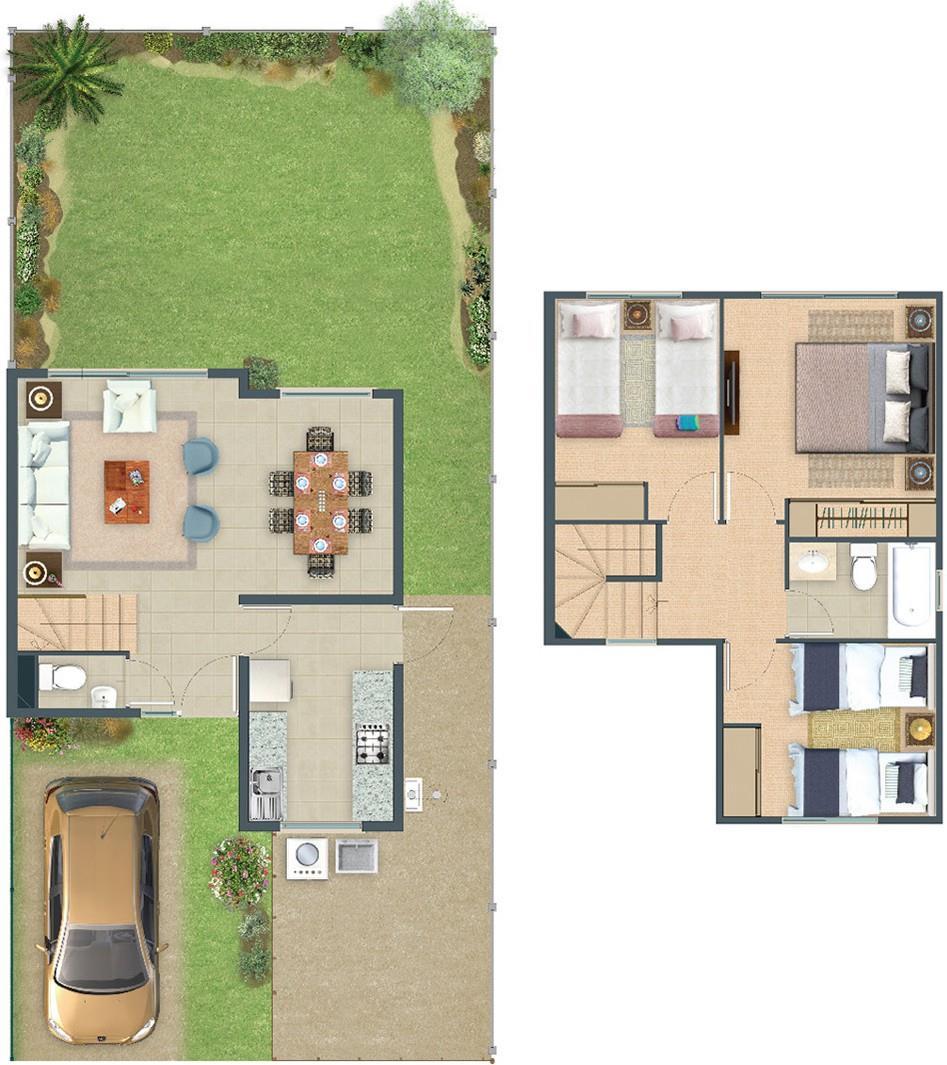 Proyecto Barrio Casas Del Valle Casa En Venta Eyzaguirre 03085  # Muebles Eyzaguirre Puente Alto