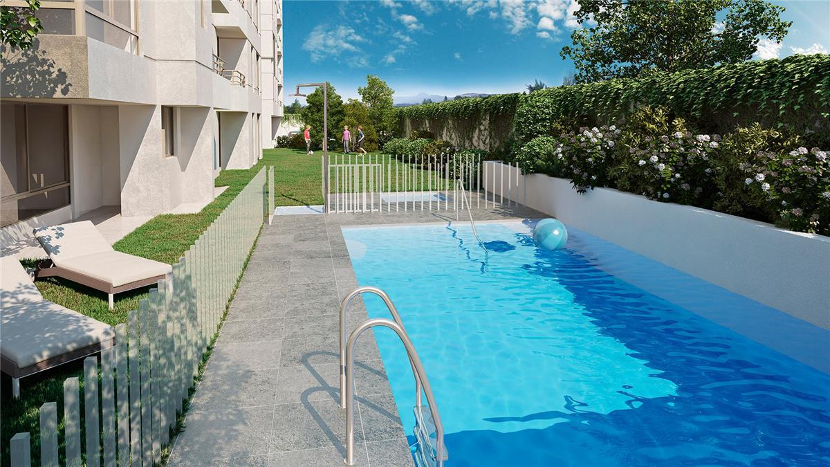 Proyecto edificio do a francisca departamento en venta for Go fit piscinas san miguel telefono