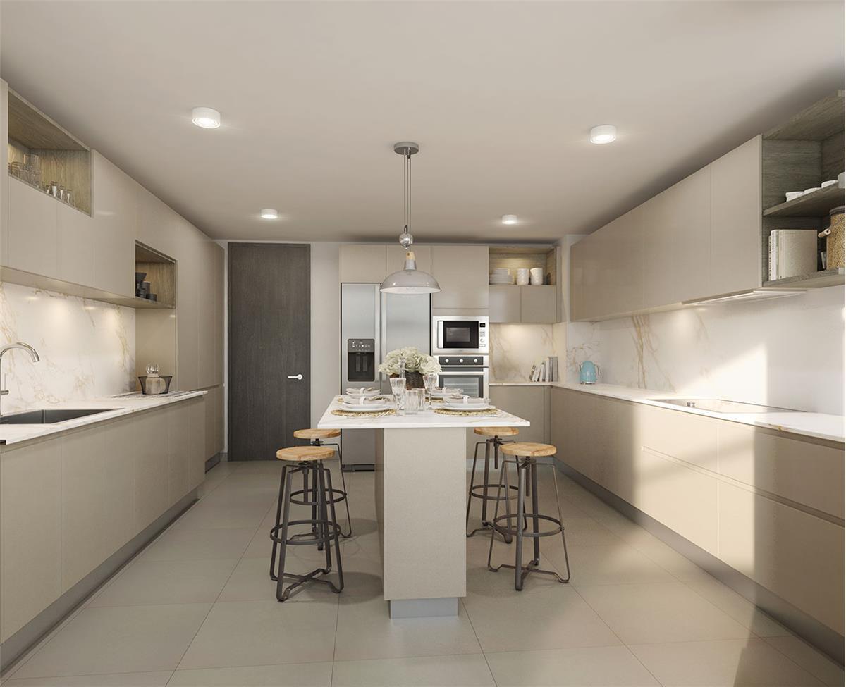 Proyecto Verdece Departamento En Venta Las Rosas 12 880 La  # Budnik Muebles De Cocina