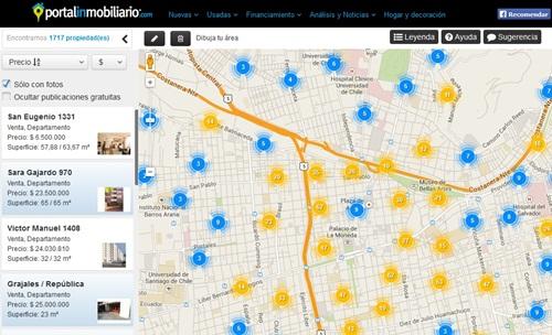 Conoce qué hacer para que tu propiedad aparezca en el mapa de Portalinmobiliario.com